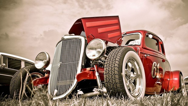 Vintage Cars Background