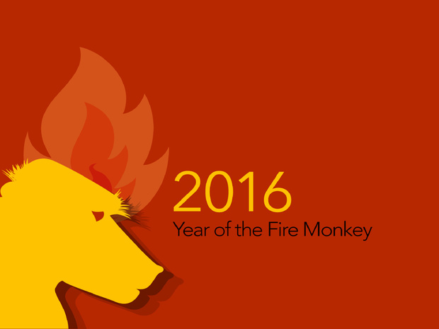 Year of the Monkey 2016 Desktop Wallpaper