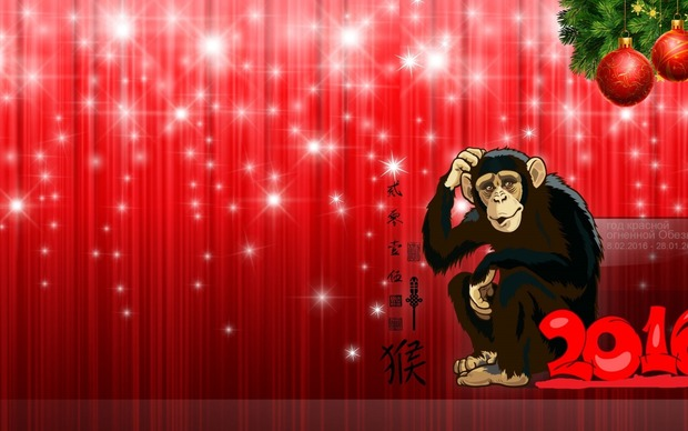 Year of the Monkey 2016 HD Wallpaper