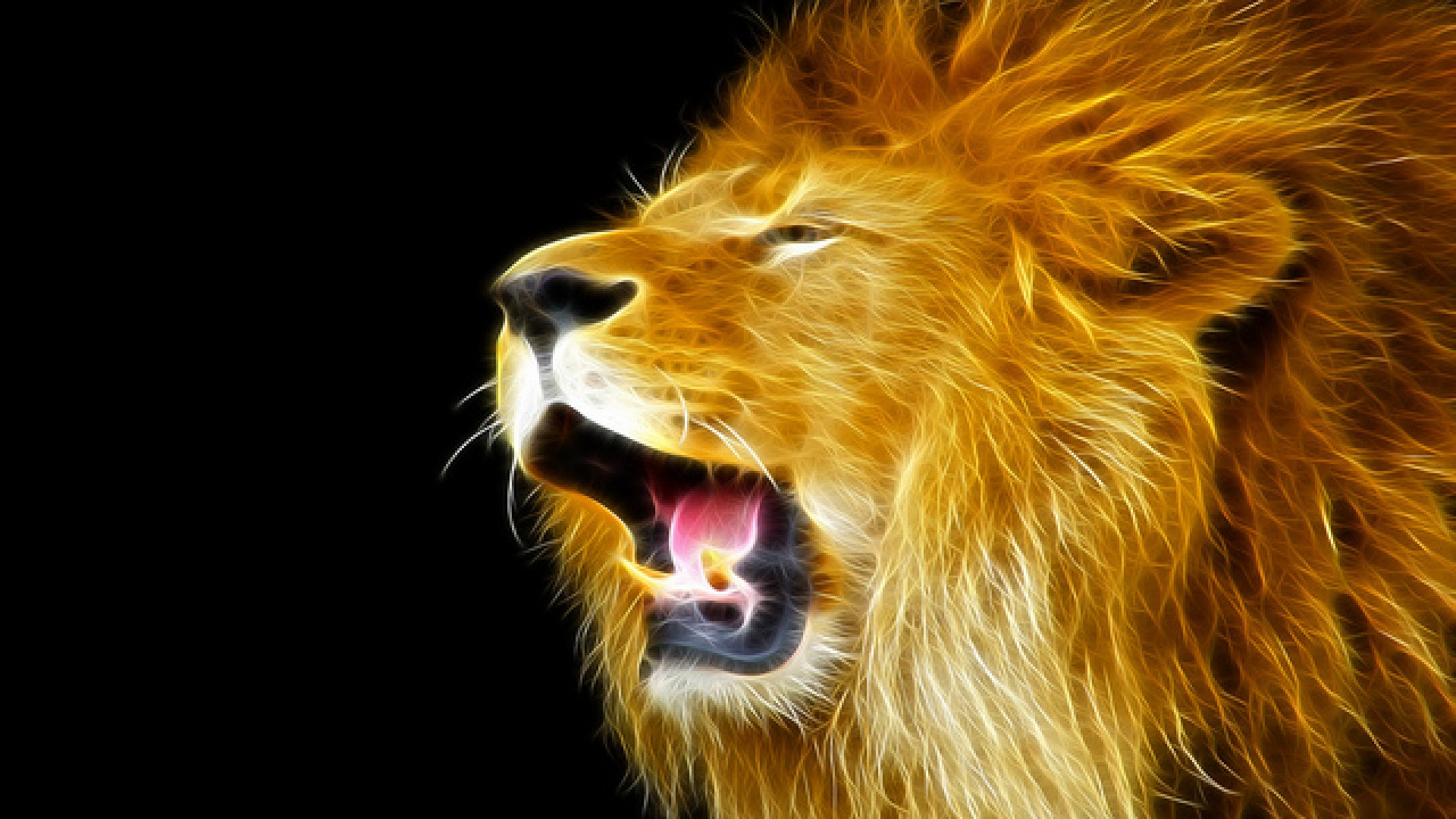 Download <b>1920x1080</b> Lion With A Ship Reflection In His Eye <b>Wallpaper</b>