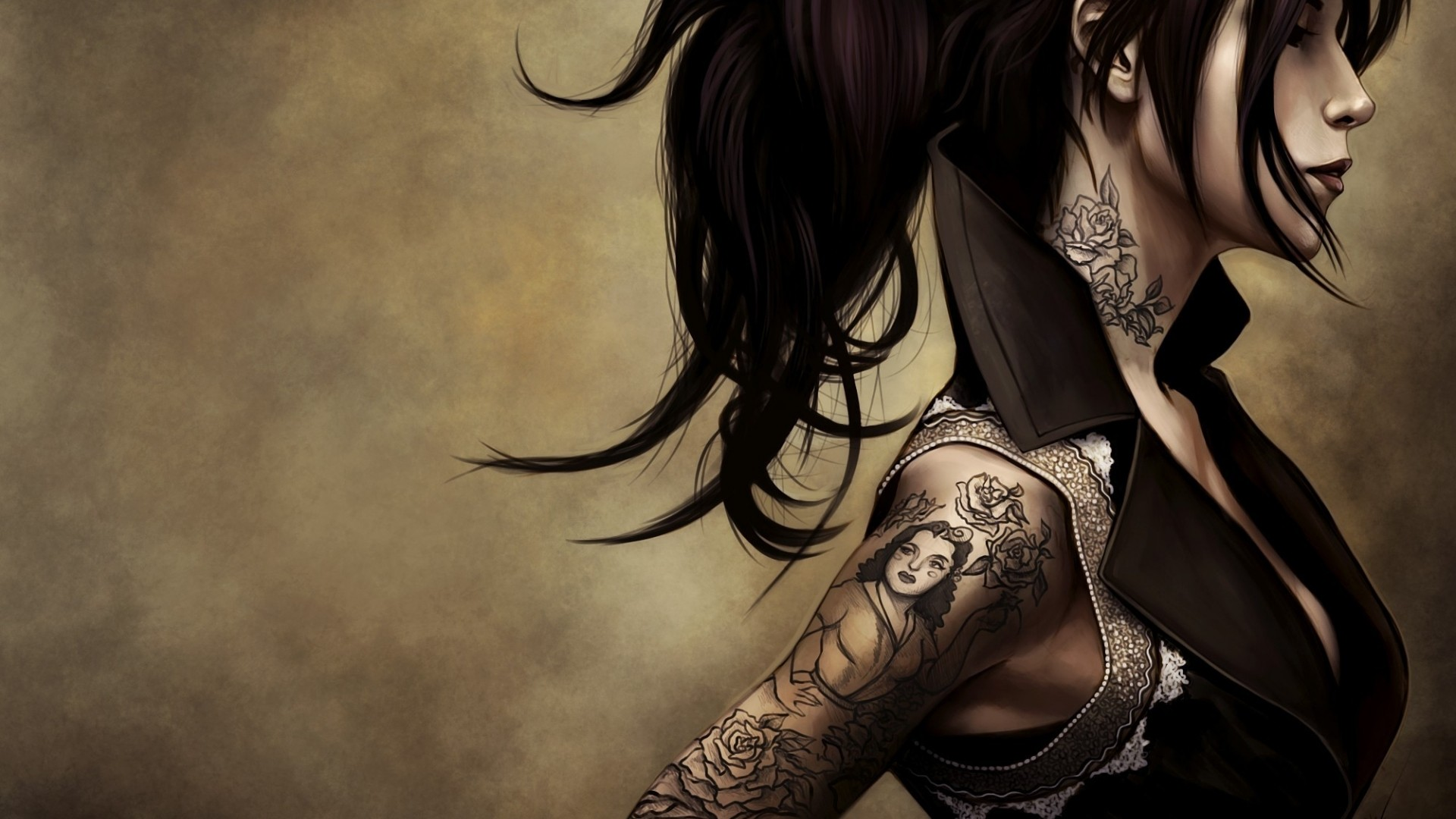 tattoo girl hd wallpaper - photo #40