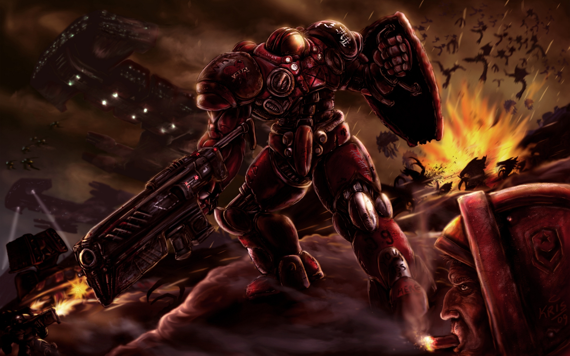 Wallpaper Wallpaper from StarCraft II Wings of Liberty