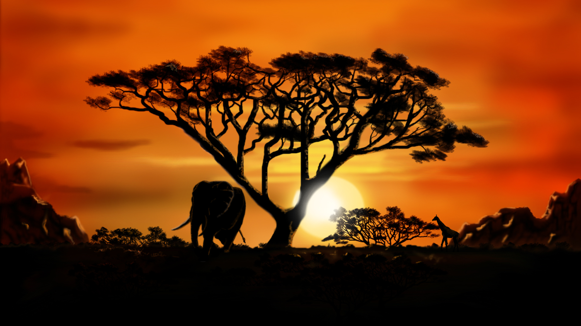 african scenery wallpaper for computer - photo #1