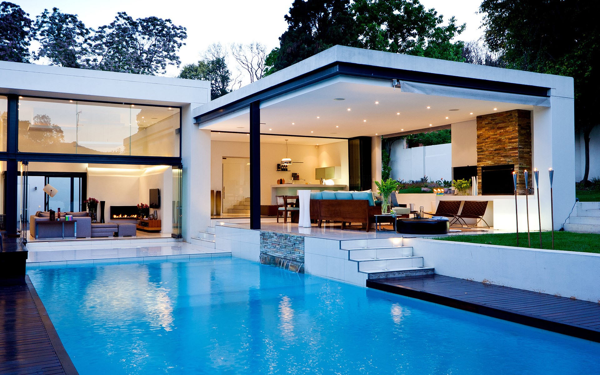 House wallpapers best wallpapers for Beautiful house with swimming pool