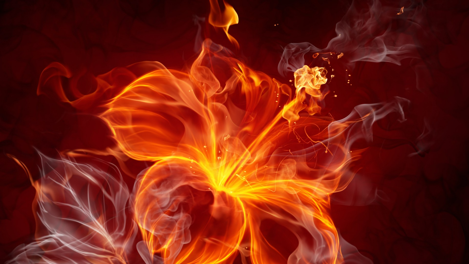 flaming fireplace wallpaper - photo #28
