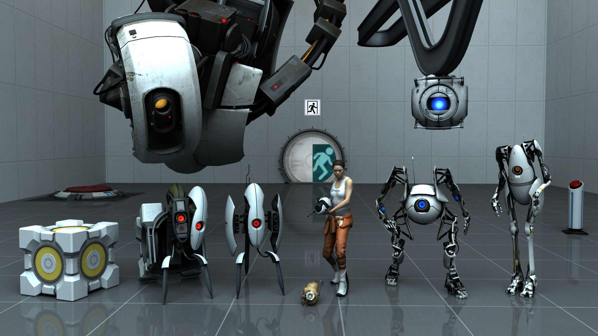 Portal 2 game wallpapers best wallpapers for 3 portals