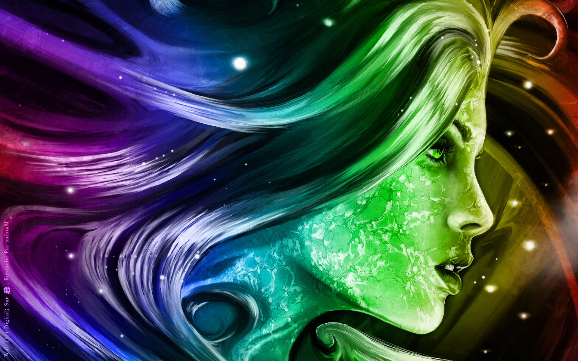 Paint Rainbow Girl Wallpapers: Digital Art Wallpapers