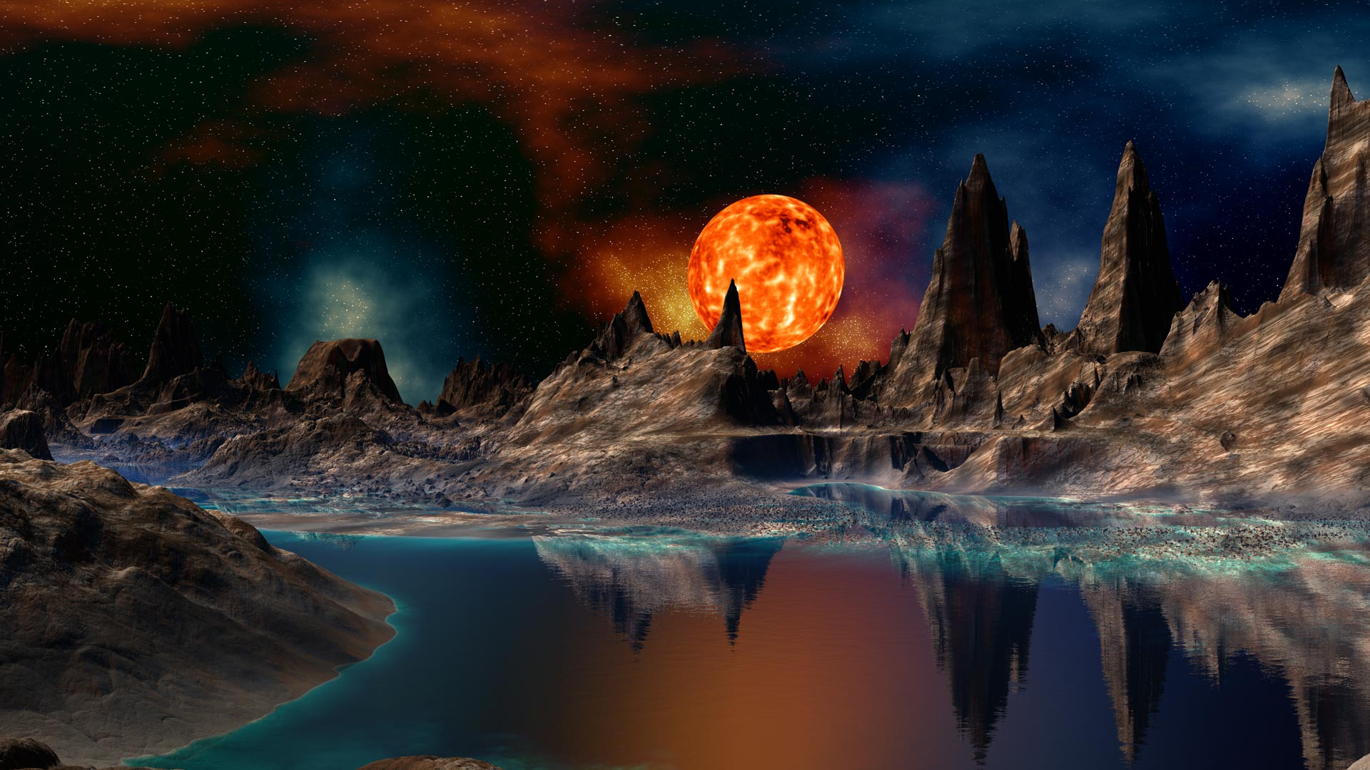 sci fi landscape alien planets - photo #42