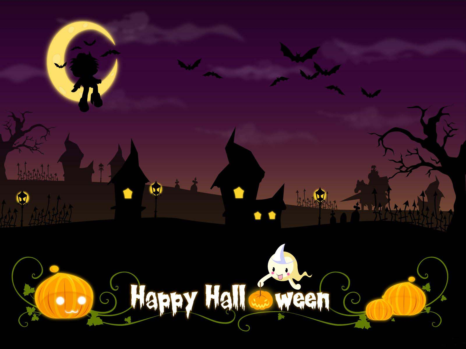 Delightful Happy Halloween Wallpaper